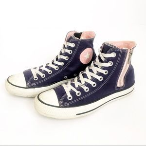 CONVERSE Chuck Taylor high top all-star.  Purple